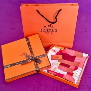 Beautiful Hermes Silk Scarf